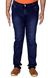 PRANKSTER Plus Size Men's Dark Blue Jeans. (42)