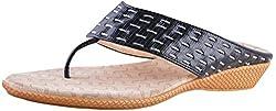 Deccan Shoes Girls Black Satin Sandals (35 EU)
