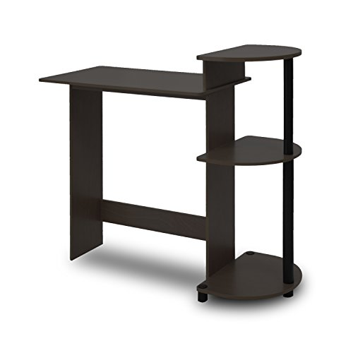 Furinno 11181EX/BK Compact Computer Desk, Espresso/Black (Corner Computer Desk Espresso compare prices)