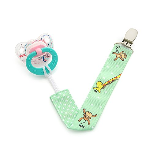 Unique Baby Toys For Girls : Pacifier clip pack unisex unique sided jungle
