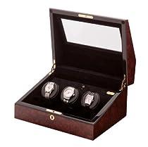The Siena 3 Teakwood - Watch Winder for Three Watches By Orbita