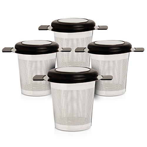 Lowest Price! Fine Mesh Tea Strainer, Loose Leaf Infuser, Stainless Steel Filter, 4-pack