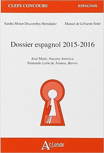 Dossier espagnol 2015-2016