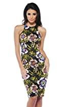 AX Paris Tropical Cut In Neck Midi Dress