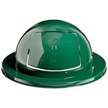 Rubbermaid Commercial FG1855 Empire Green 24-1/2-Inch Steel Drum Dome Top
