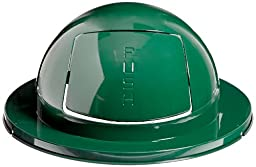 Rubbermaid Commercial FG1855EGN Steel Drum Dome Top, 24-5-inch, Green