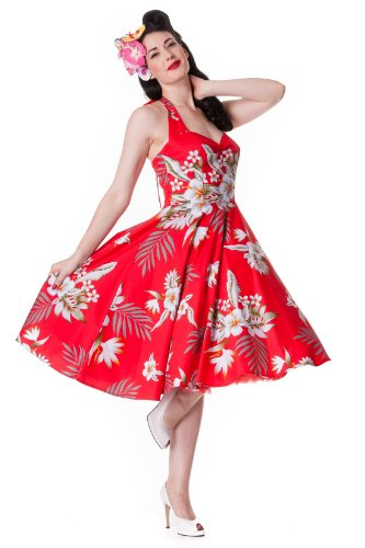 Hell Bunny Red Alika Dress XS - UK 8 / EU 36