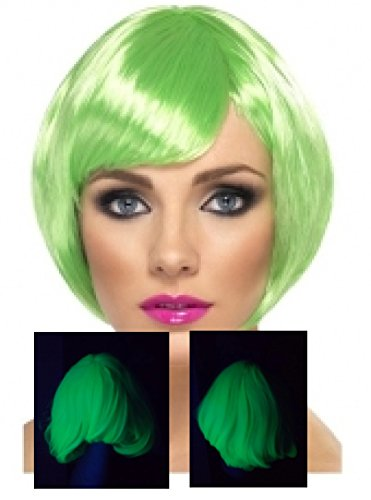 Neon Babe Wig Short Bob With Fringe In Assorted Colors Color:Green