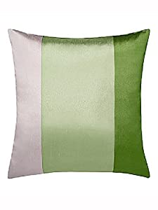 """Brazil Green Beige/cream Striped Faux Silk Lined Ring Top 46"""" X 54"""" Curtains #oir from PCJ SUPPLIES"""