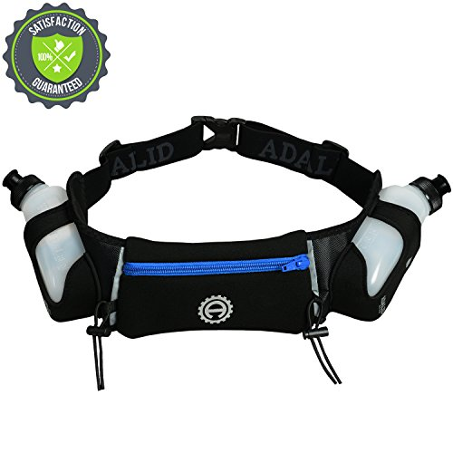 Hydration Belt For Running, Marathon, Races, Cross Country, Walking And Hiking - The Best Fuel Gear For Sports & Leisure | Includes Accessories And Two 10-Ounce Bpa-Free Leak-Proof Water Bottles | Bounce-Free & Fits Most Waist Sizes | 1-Year Warranty (Roy