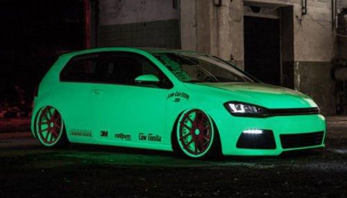 "Luminous glow in the dark car wrap vinyl 24/"" x 60/"" VViViD air release film"