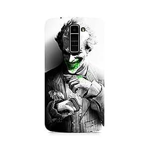 Motivatebox- Arkham City Joker Premium Printed Case For LG K7 -Matte Polycarbonate 3D Hard case Mobile Cell Phone Protective BACK CASE COVER. Hard Shockproof Scratch-