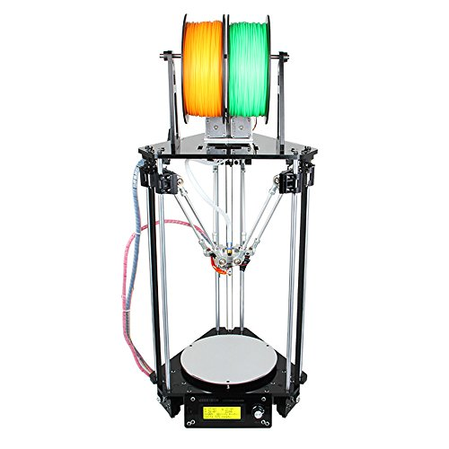 WER Delta Rostock mini G2s DIY kit with auto-leveling dual extruder,auto-calibrationsupport multiple way of printing