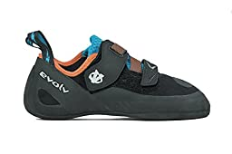 Evolv Kronos Climbing Shoe - Black/Orange 5