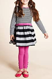 Girls' Mini Limited Modal Blend Stripe Jersey Dress & Leggings [T77-8260F-Z]