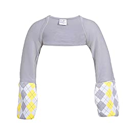 Scratch Me Not Flip Mitten Sleeves - Baby Boys\' Girls\' Stay On Scratch Mitts Gray Argyle 2T