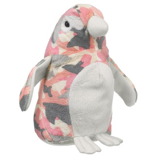 Wildlife Artists Camo Wild Zoo Pink Camo Penguin In A Unique Animal Camo Zoo Plush Stuffed Animal front-790073