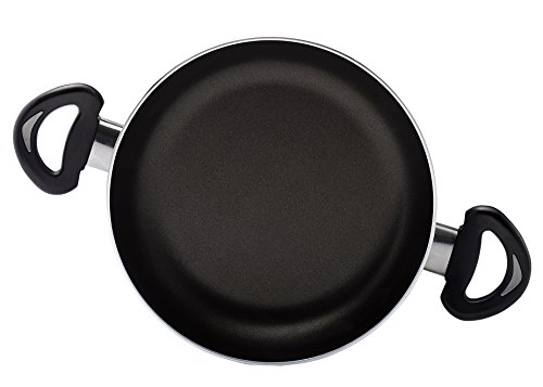 Essenso Bronx Egg Pan, Dishwasher Safe with PTFE Free Nonstick Interior, 7.8 Inch, Black