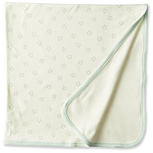 Sterling Baby by Vitamins Baby-Boys Newborn Star Print Blanket with Ribbon, Ivory, One Size - 1