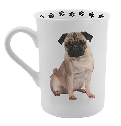 Dimension 9 Pug Coffee Mug, White