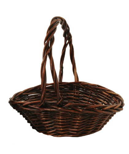 12-1/2-Inch Oval Willow Basket