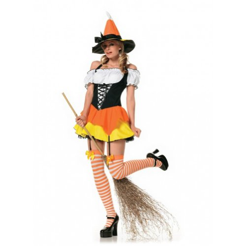 Candy Corn Witch Costume - Small - Dress Size 4-6