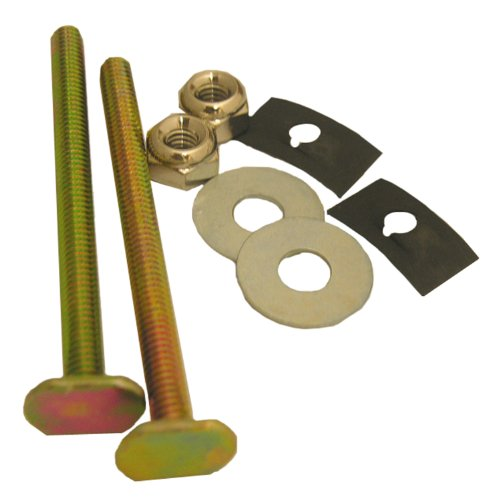 Lasco 04-3643 Solid Brass 1/4-Inch by 3-1/4-Inch with Nuts and Washers Toilet Bolts