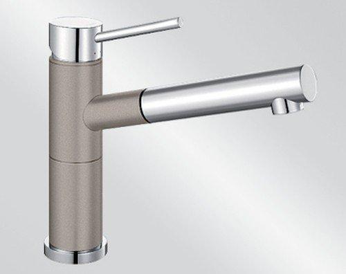 Blanco Alta-S Compact Tartufo Braun Einhebelmischer Hochdruck Armatur Spültisch