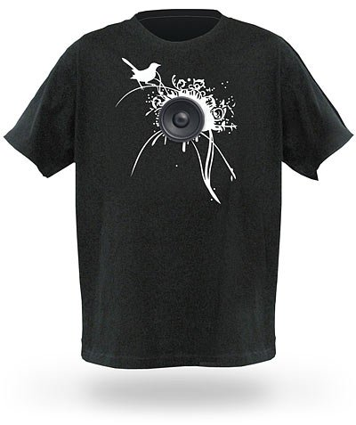 Black Loudspeaker T-Shirt