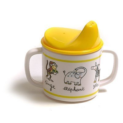Baby Cie Sippy Cup - Jungle Animals - Yellow - 8 oz