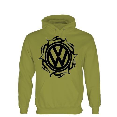 Tribal VW-Felpa con cappuccio e Logo taglie M-XXL