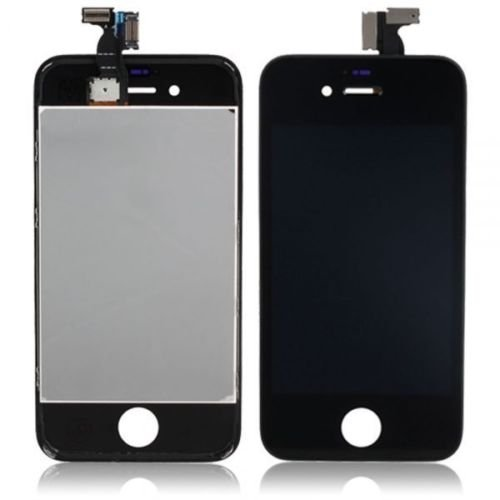 Group Vertical Black Front Screen Replacement Part For Iphone 4S - Complete Assembly Includes Touch Screen Digitizer + Lcd + Frame