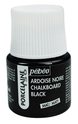 Pebeo Porcelaine 150 China Paint 45-Milliliter Bottle, Chalkboard Black