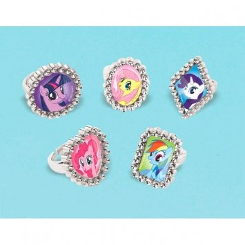 My Little Pony Friendship Magic Jewel Rings 18 Count-2Pack