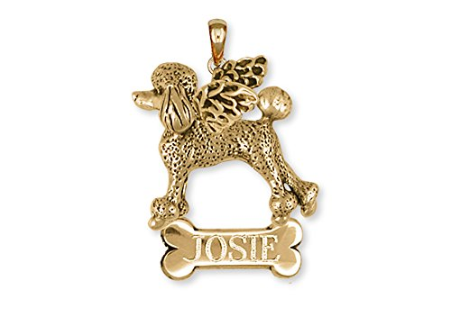Poodle Angel Pendant14k Yellow Gold Jewelry