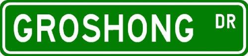 GROSHONG Street Sign ~ Personalized Family Lastname Novelty Sign ~ Gameroom, Basement, Garage Sign ** Aluminum 4 x 18 - Buy GROSHONG Street Sign ~ Personalized Family Lastname Novelty Sign ~ Gameroom, Basement, Garage Sign ** Aluminum 4 x 18 - Purchase GROSHONG Street Sign ~ Personalized Family Lastname Novelty Sign ~ Gameroom, Basement, Garage Sign ** Aluminum 4 x 18 (The Lizton Sign Shop, Home & Garden,Categories,Patio Lawn & Garden,Outdoor Decor)