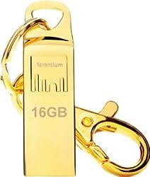 Strontium SR16GGDAMMO 16GB USB Pen Drive,(Gold)