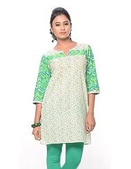 Purab Paschim Women's Cotton Printed Kurti (20660)