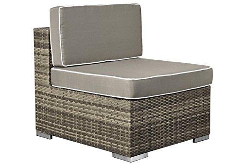 Rattan Loungeelement Espace Exclusive Sofa Mitte inkl. Polster – Farbe: braun meliert günstig kaufen
