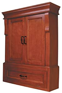 Pegasus Nac02633 Naples Wall Cabinet Warm Cinnamon Wall