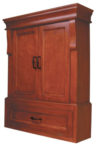 Pegasus NAC02633 Naples Wall Cabinet, Warm Cinnamon (Wall Cabinet Bar compare prices)