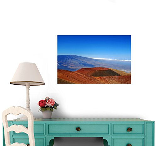 Hawaii - Mauna Loa Auf Big Island Wall Decal - 72 Inches W X 48 Inches H - Peel And Stick Removable Graphic
