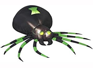 Black & Green Spider Airblown 4 Ft Tall Halloween Inflatable