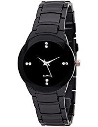 AKAG Black Dial Black Round Analogue Men's Watches - AK-IK-MS-A471