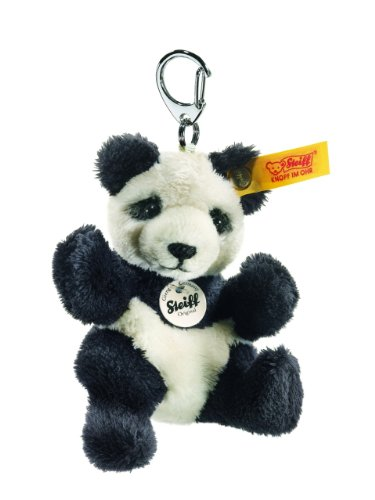 Steiff Keyring Panda, Black/White front-849106
