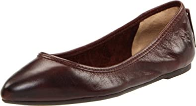 FRYE Women's Regina Ballet Flat,Dark Brown Soft Vintage Leather,9.5 M US