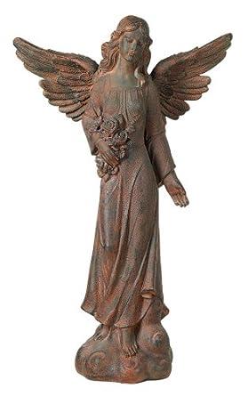 "English Tudor Garden Angel 41.5"" High Statue"