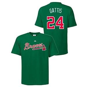 Evan Gattis Atlanta Braves Green Player T-Shirt by Majestic by Majestic
