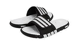 adidas Performance Adilight SC XJ Slide Sandal (Little Kid/Big Kid),Black/Silver/Clear Grey,2 M US Little Kid