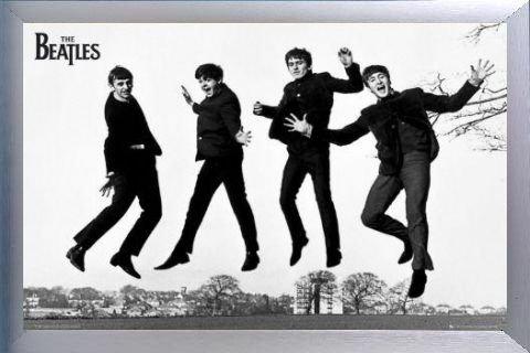 The Beatles Poster and Frame (Aluminium) - Jump 2 (36 x 24 inches)